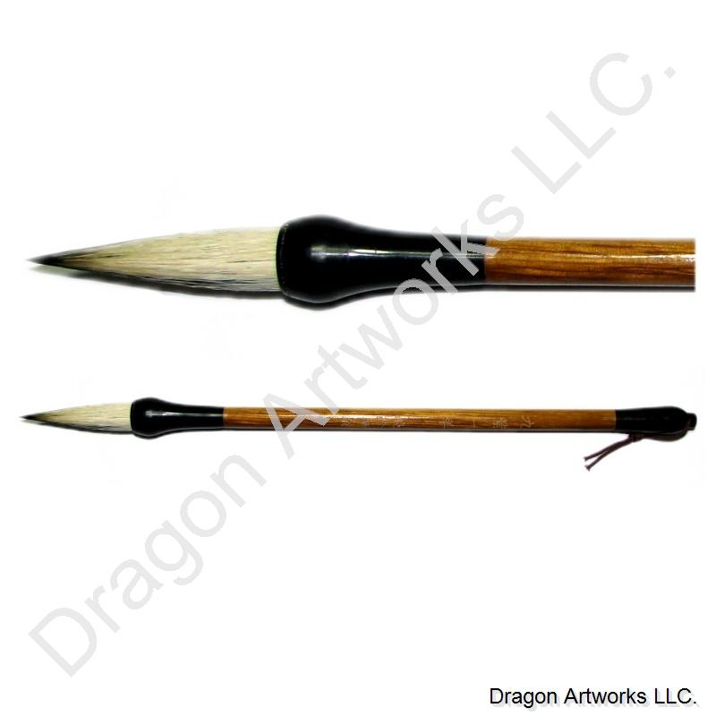 Nine purple chinese calligraphy brush