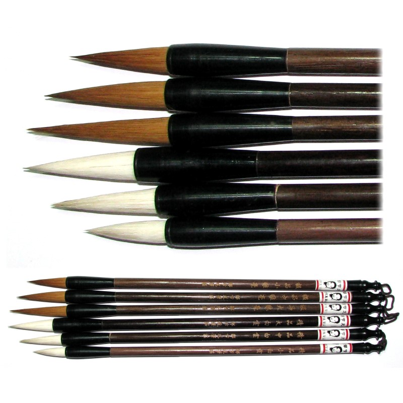Wolf and sheep hair chinese calligraphy brush set Chinese calligraphy brush