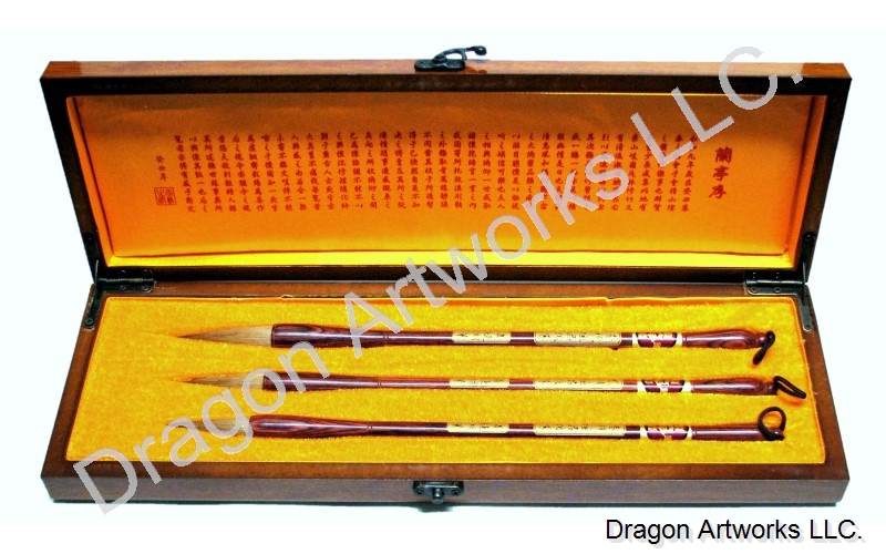 Honorable Wolf Hair Chinese Calligraphy Brush Set