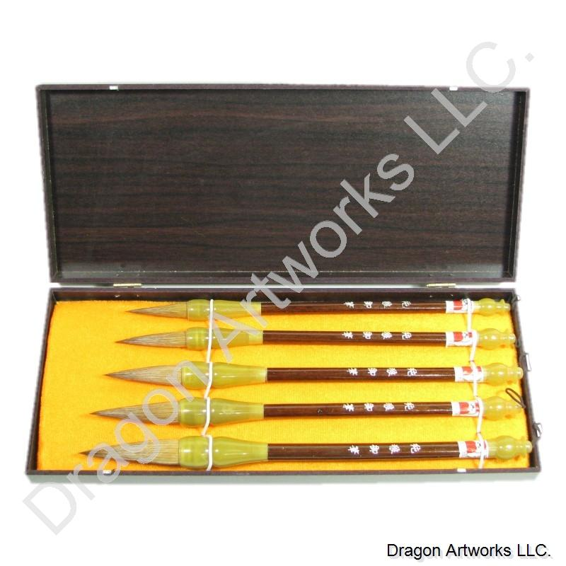 Wolf Hair Bristle Chinese Calligraphy Brush Set