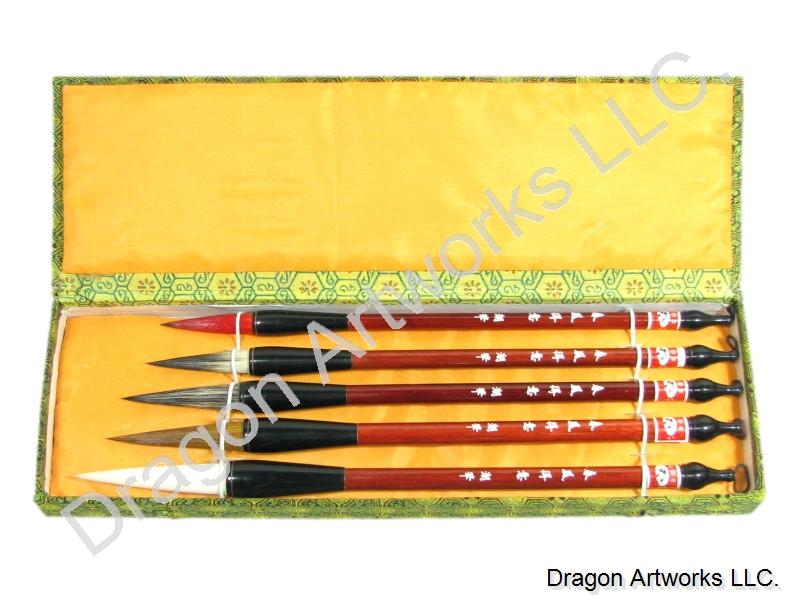 Mixed Hair Bristle Chinese Calligraphy Brush Set