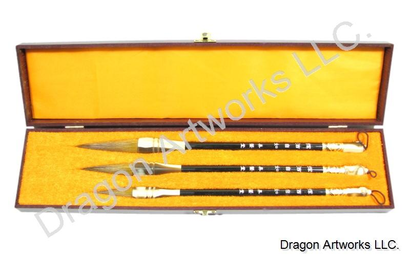 Wolf Hair Bristle Chinese Calligraphy Art Brush Set