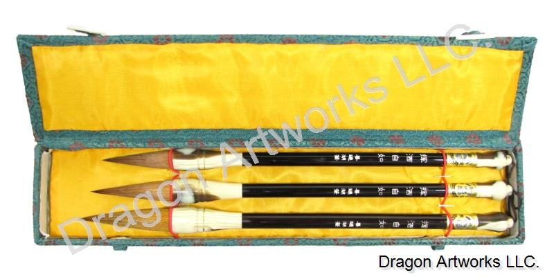 Wolf Hair Bristle Chinese Calligraphy Brush Set