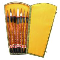 Chinese Calligraphy Brush Set of Seven Mixed Hair Brushes