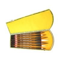 Set of Seven Mixed Hair Chinese Calligraphy Brushes