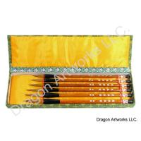 Six Wolf Hair Bristle Calligraphy Brush Set