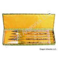 Set of Five mixed Hair Calligraphy Brushes